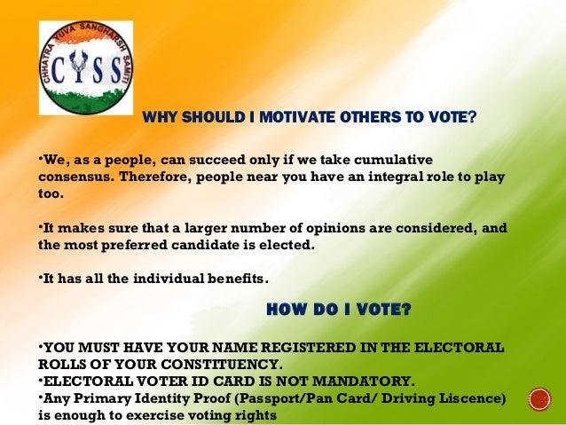 Voting awareness essay