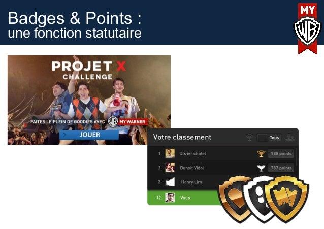 Badges & Points :une fonction statutaire