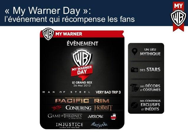 « My Warner Day »:l'événement qui récompense les fans