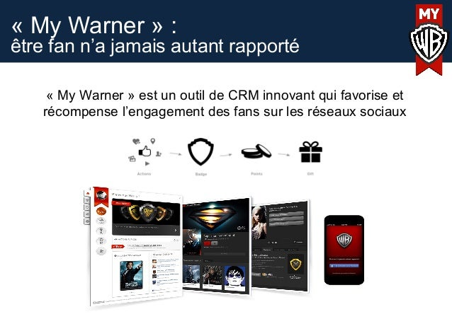 « My Warner » :être fan n'a jamais autant rapporté« My Warner » est un outil de CRM innovant qui favorise etrécompense l'e...