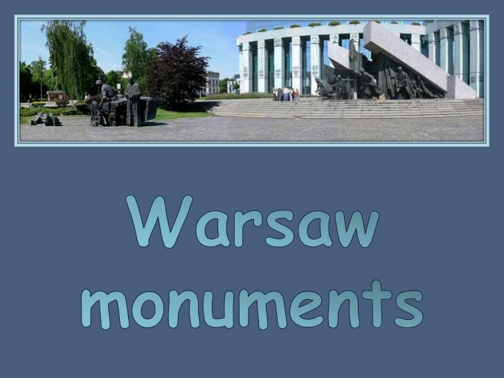 Warsaw monuments<br />