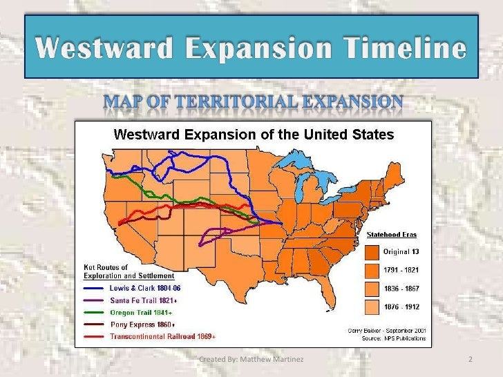 the advantages of westward expansion First steps towards controlling slavery and westward expansion politicians were forced to deal with the issue of slavery and its westward expansion as early as the missouri compromise of 1820 the states had previously maintained a shaky balance in the senate with an equal number of representatives from both slave and free states.