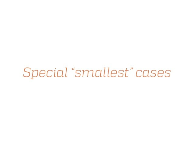 """Special """"smallest"""" cases"""