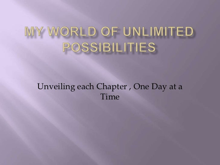 Unveiling each Chapter , One Day at a                Time