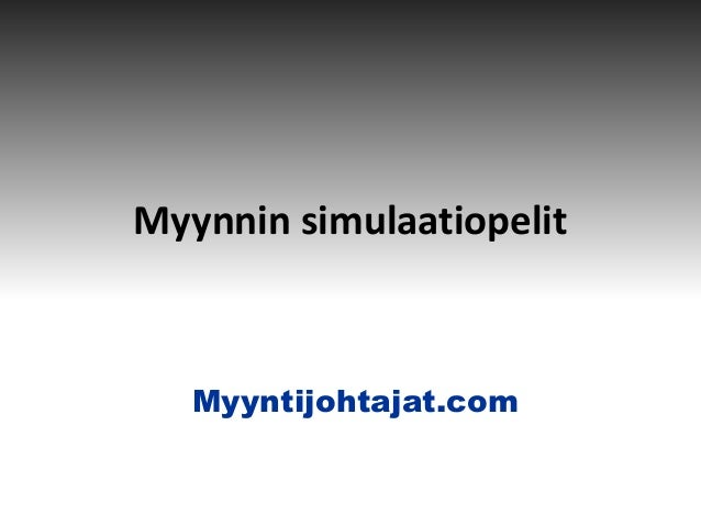 Myyntijohtajat.com Myynnin simulaatiopelit Myyntijohtajat.com