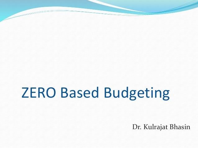 zero based budgeting templates