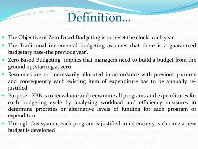traditional budgeting system definition