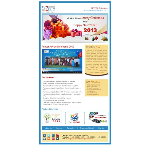 MYZEAL IT Solutions Annual Accomplishments 2012