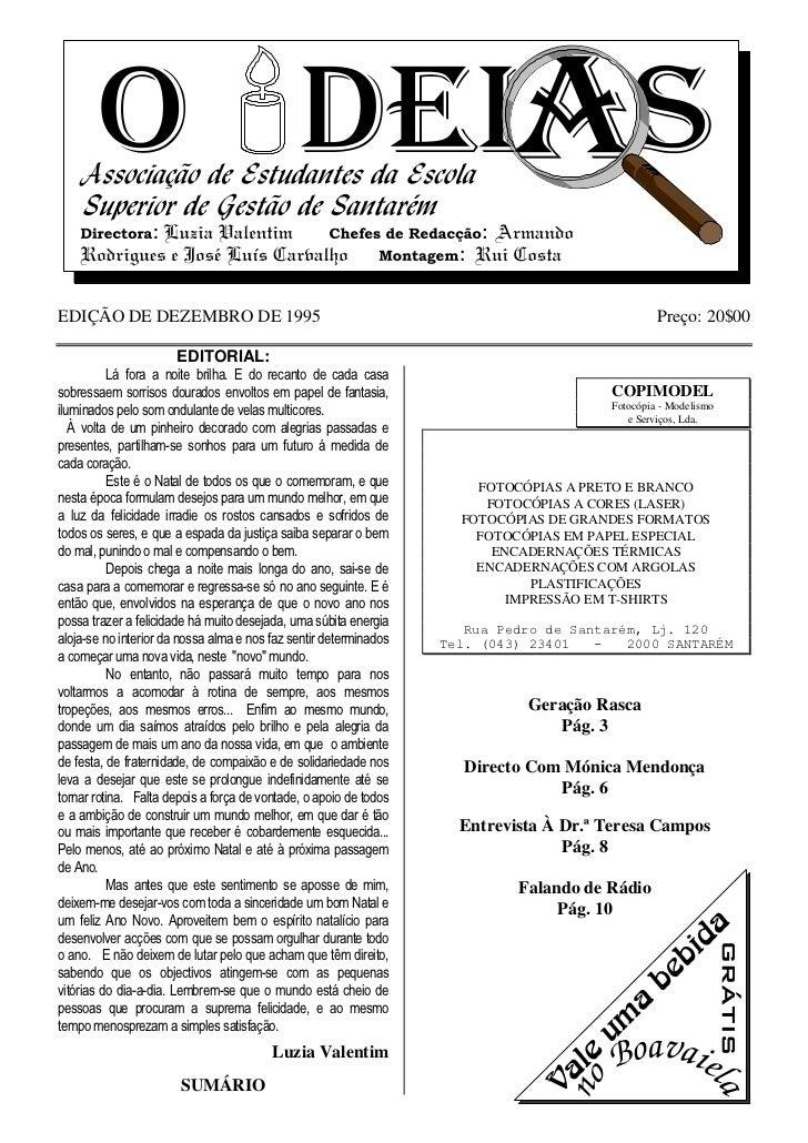 EDIÇÃO DE DEZEMBRO DE 1995                                                                       Preço: 20$00             ...