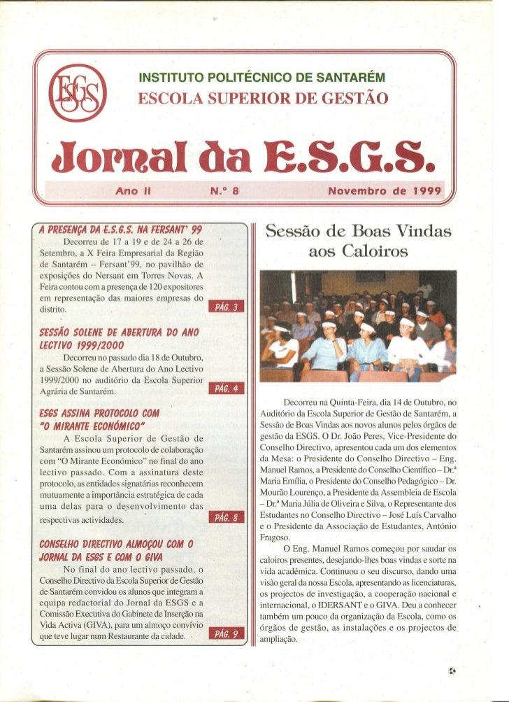 N.º 08 jornal da e.s.g.s   novembro de 1999 ano ii
