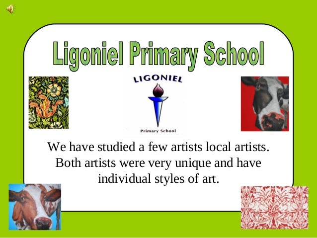 We have studied a few artists local artists. Both artists were very unique and have individual styles of art.