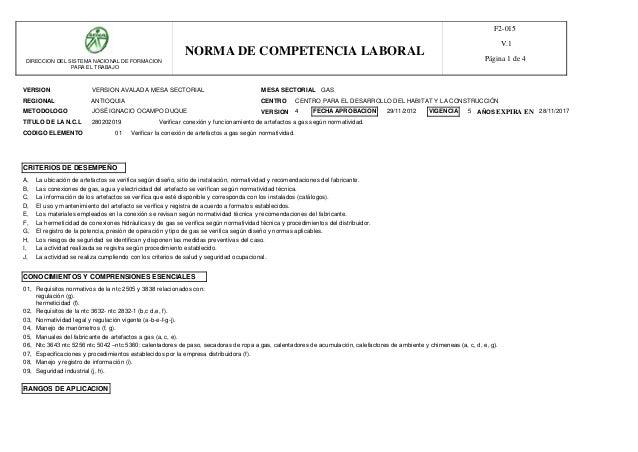 VERSION MESA SECTORIAL REGIONAL CENTRO METODOLOGO VERSION AVALADA MESA SECTORIAL GAS ANTIOQUIA TITULO DE LA N.C.L 28020201...