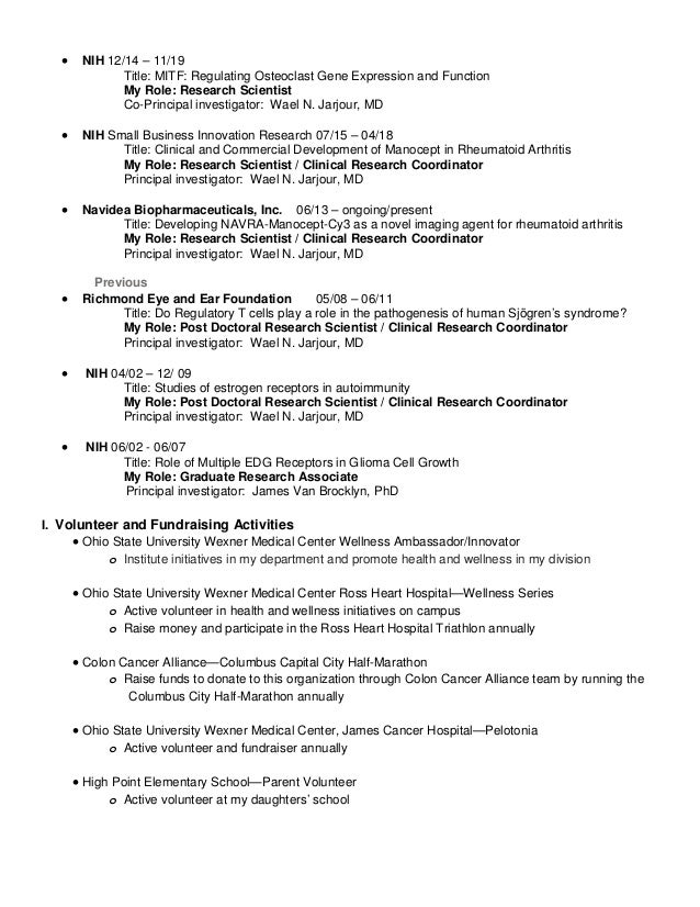 resume research