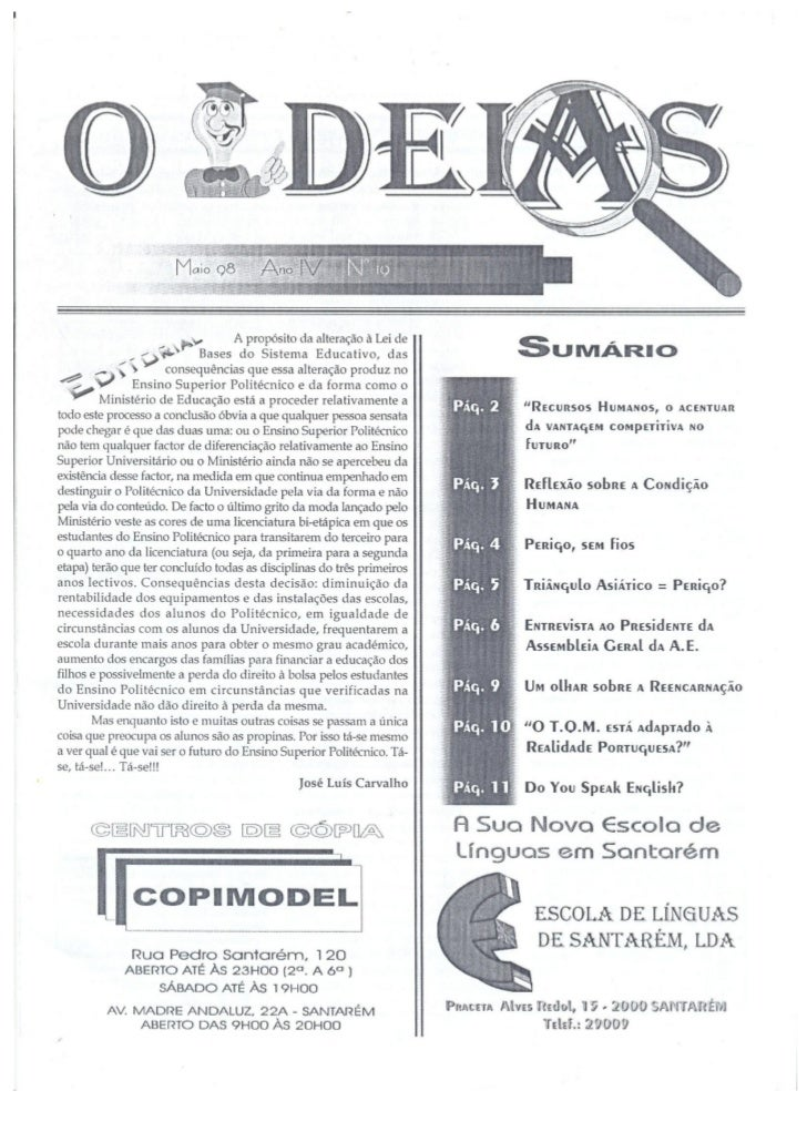 N.º 19 o ideias   maio de 98 ano iv scan