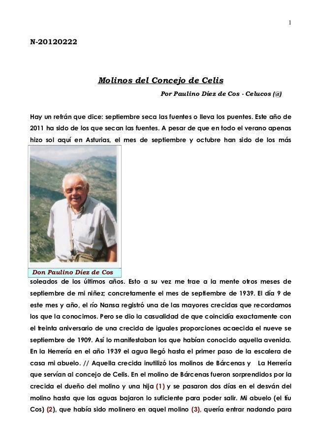 1N-20120222                     Molinos del Concejo de Celis                                         Por Paulino Díez de C...