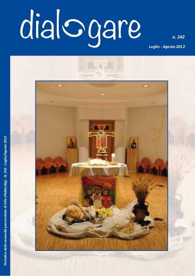 Periodico della comunità parrocchiale di Villa d'Adda (Bg) - N. 242 - Luglio/Agosto 2012                                  ...
