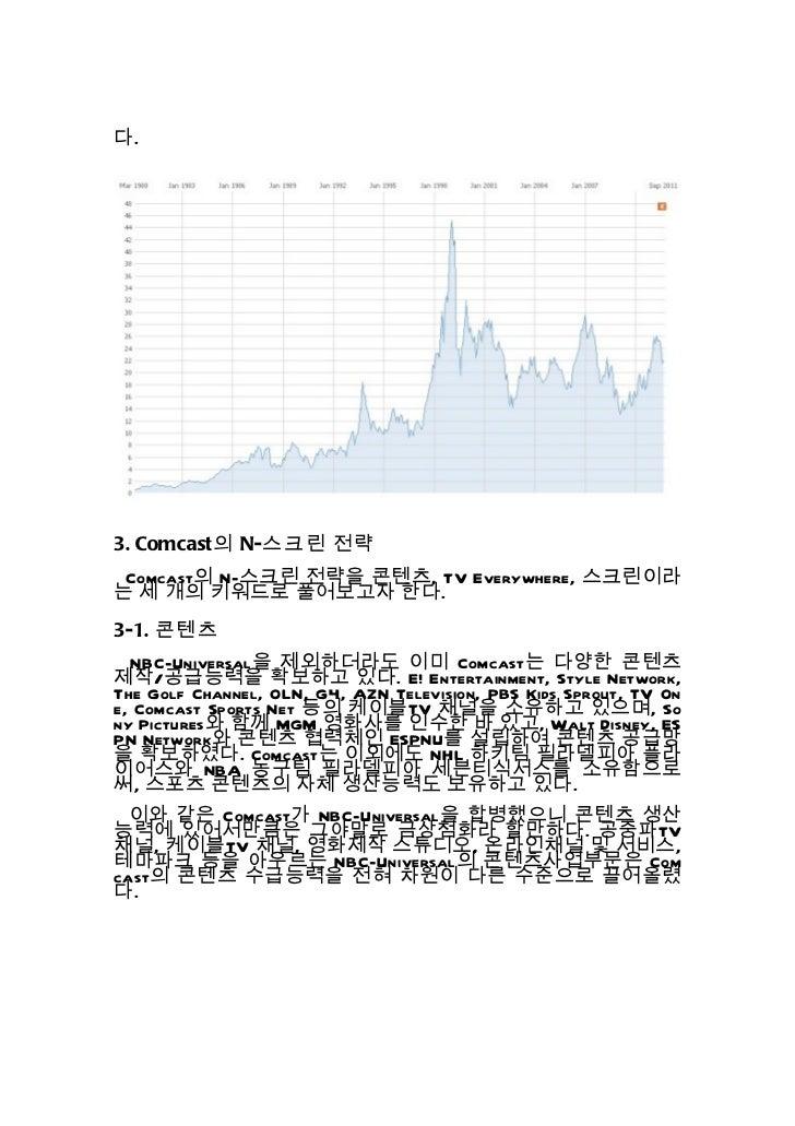 N 스크린 사례 분석보고서 3 - 컴캐스트