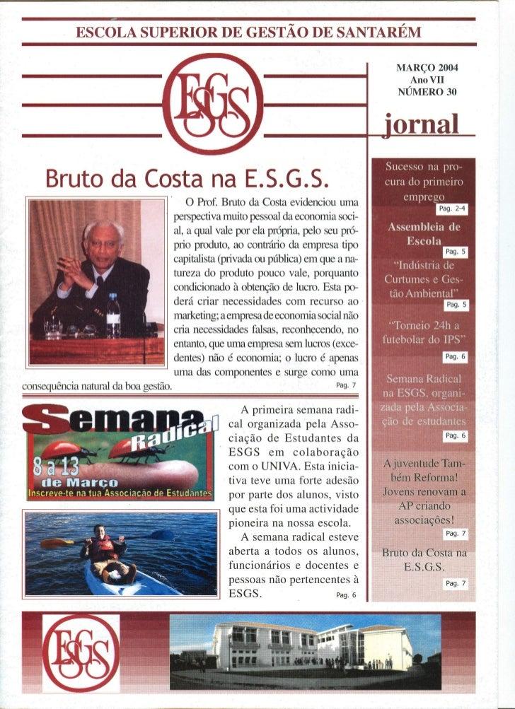 N.º 30 jornal da e.s.g.s   abril 2004 ano vii