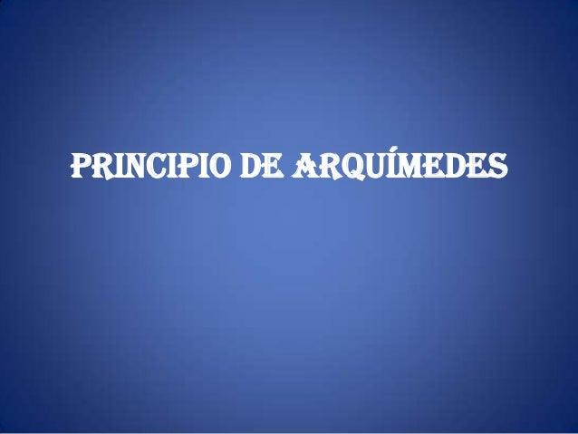 Principio de Arquímedes