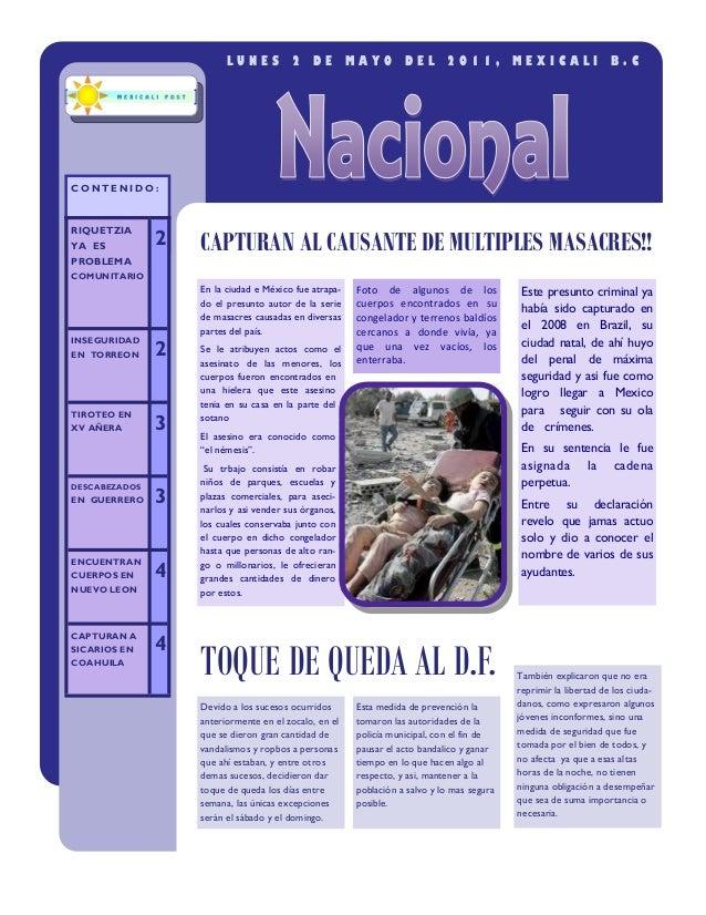 LUNES          2    DE        MAYO       DEL       2011,          MEXICALI               B.CCONTENIDO:RIQUETZIAYA ES      ...