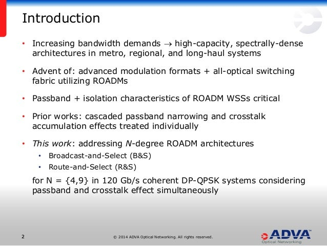 n-degree roadm architecture comparison: broadcast-and-select vs route…