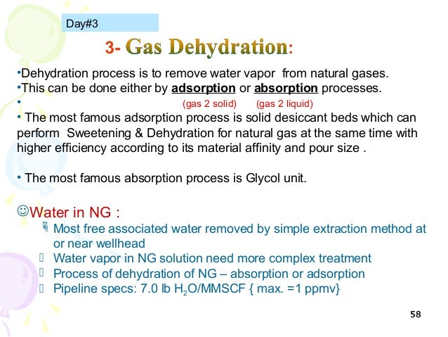 Natural Gas Dehydration and Filtration Products
