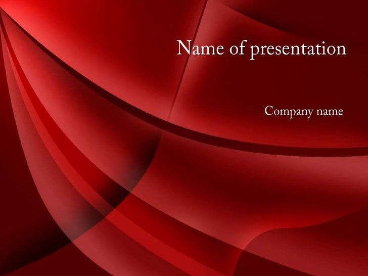 Red Style PowerPoint Template and Background