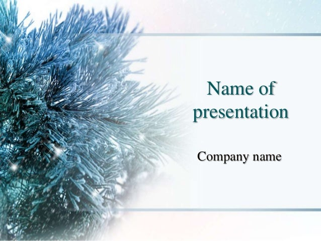 Winter season powerpoint template winter season powerpoint template name of presentation company name toneelgroepblik Choice Image
