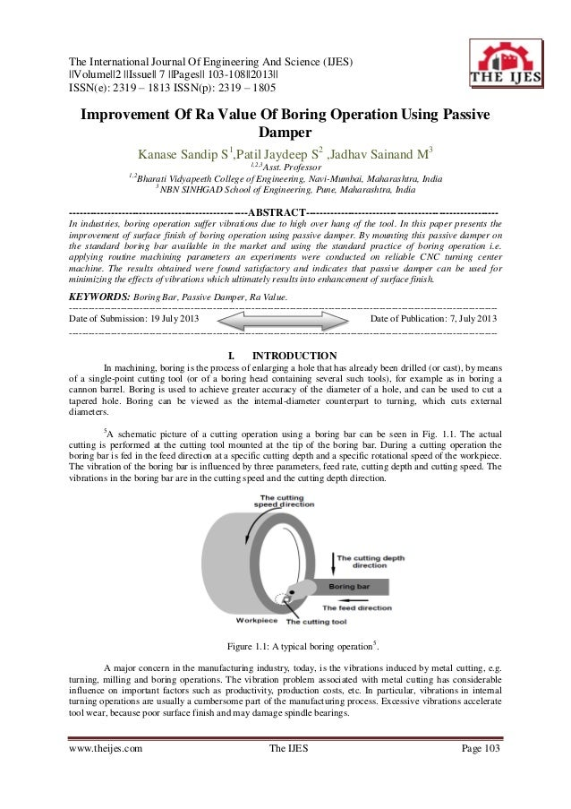 The International Journal Of Engineering And Science (IJES) ||Volume||2 ||Issue|| 7 ||Pages|| 103-108||2013|| ISSN(e): 231...