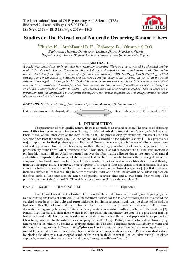 The International Journal Of Engineering And Science (IJES) ||Volume||2 ||Issue|| 9||Pages|| 95-99||2013|| ISSN(e): 2319 –...