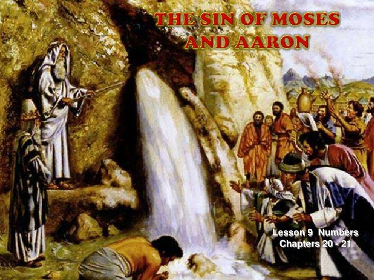 THE SIN OF MOSES AND AARON<br />Lesson 9  Numbers  Chapters 20 - 21<br />