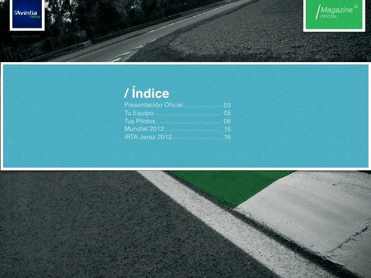 Nº0 magazine avintia racing Slide 2