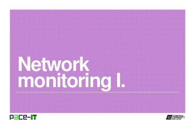 Network monitoring I.
