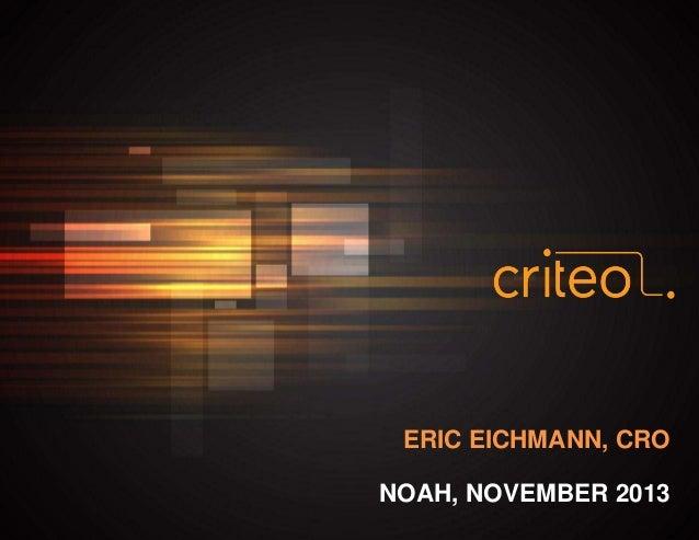 ERIC EICHMANN, CRO NOAH, NOVEMBER 2013 0