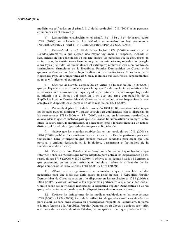 Resolución N° 2087 del Consejo de Seguridad de las Naciones Unidas Slide 2