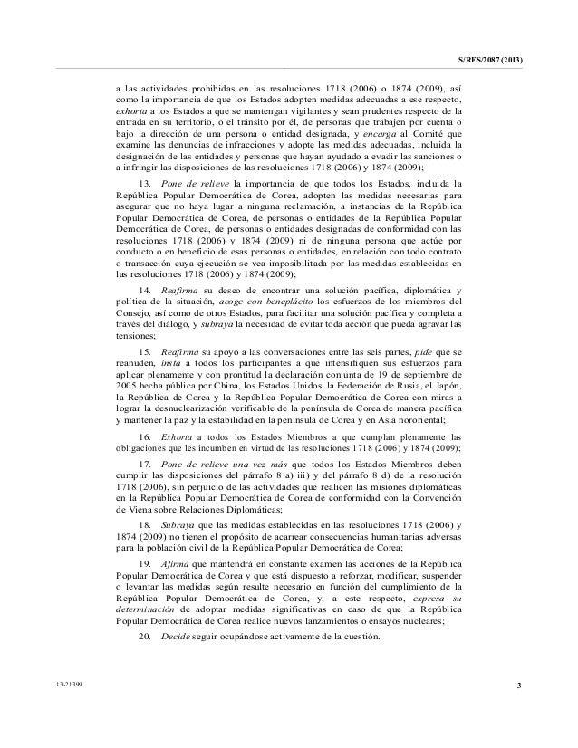 Resolución N° 2087 del Consejo de Seguridad de las Naciones Unidas Slide 3