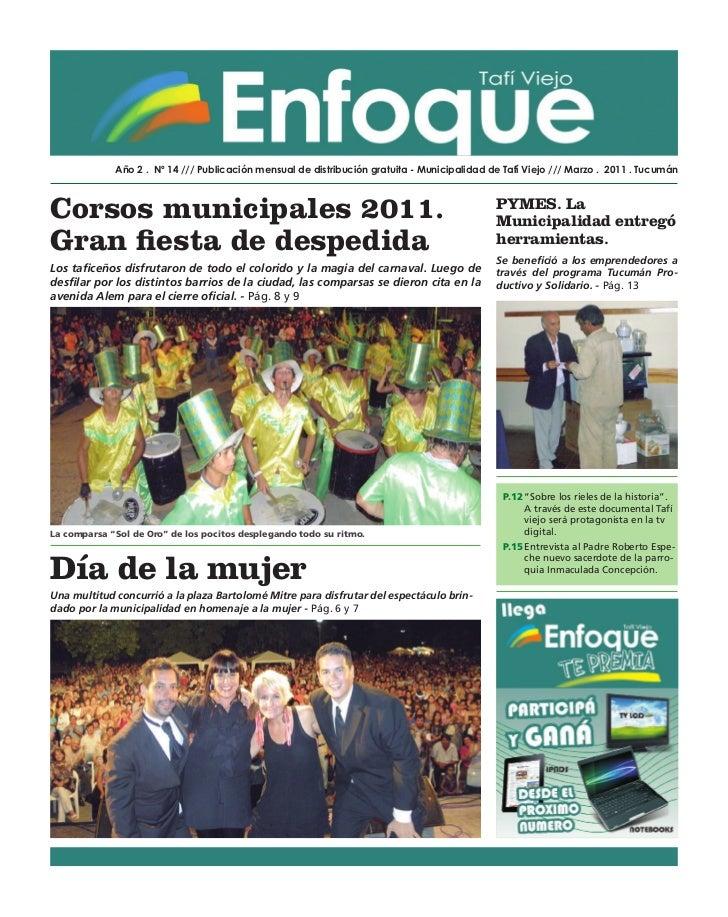 Año 2 . Nº 14 /// Publicación mensual de distribución gratuita - Municipalidad de Tafí Viejo /// Marzo . 2011 . TucumánCor...