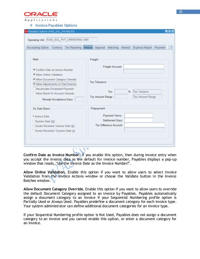 Oracle Payables R12 ivas