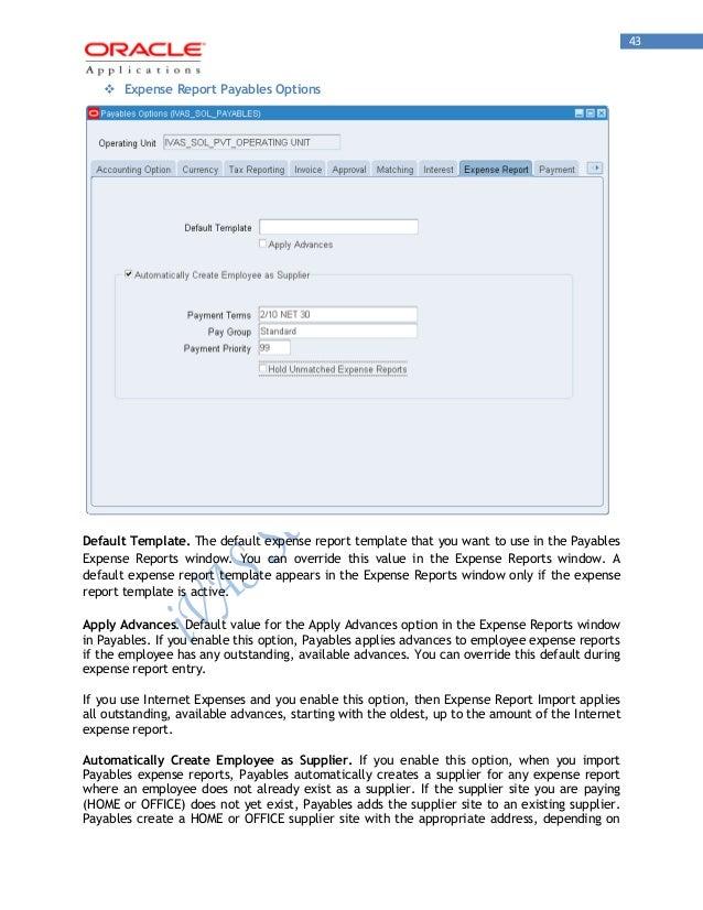 Oracle Payables R12 ivas on
