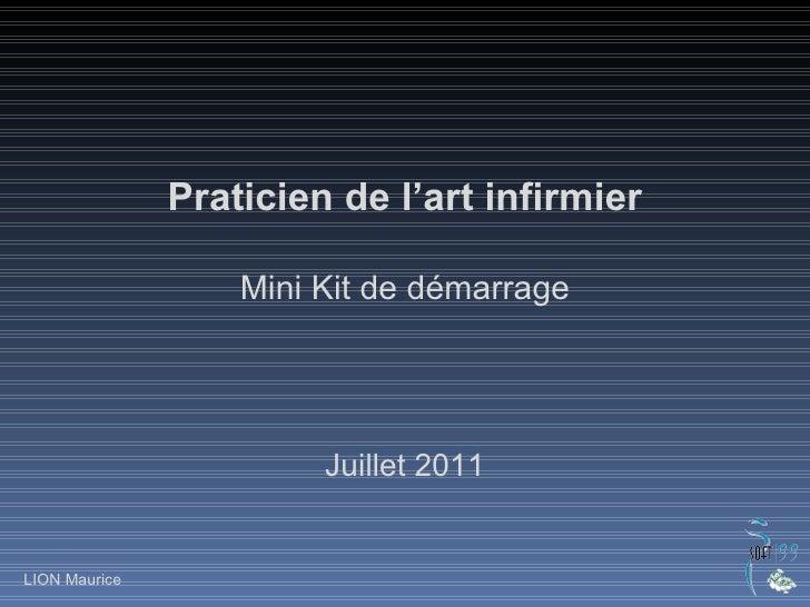 Praticien de l'art infirmier Mini Kit de démarrage Juillet 2011 LION Maurice