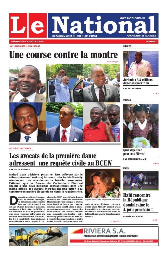 Une course contre la montre Haïti rencontre la République dominicaine le 4 juin prochain ! PAR GÉRALD Bordes DU MARDI 19 A...
