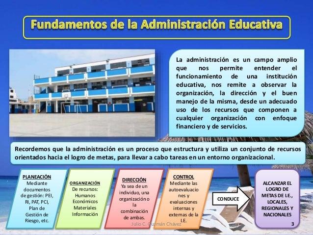 N° 2 fundamentos administración educativa Slide 3