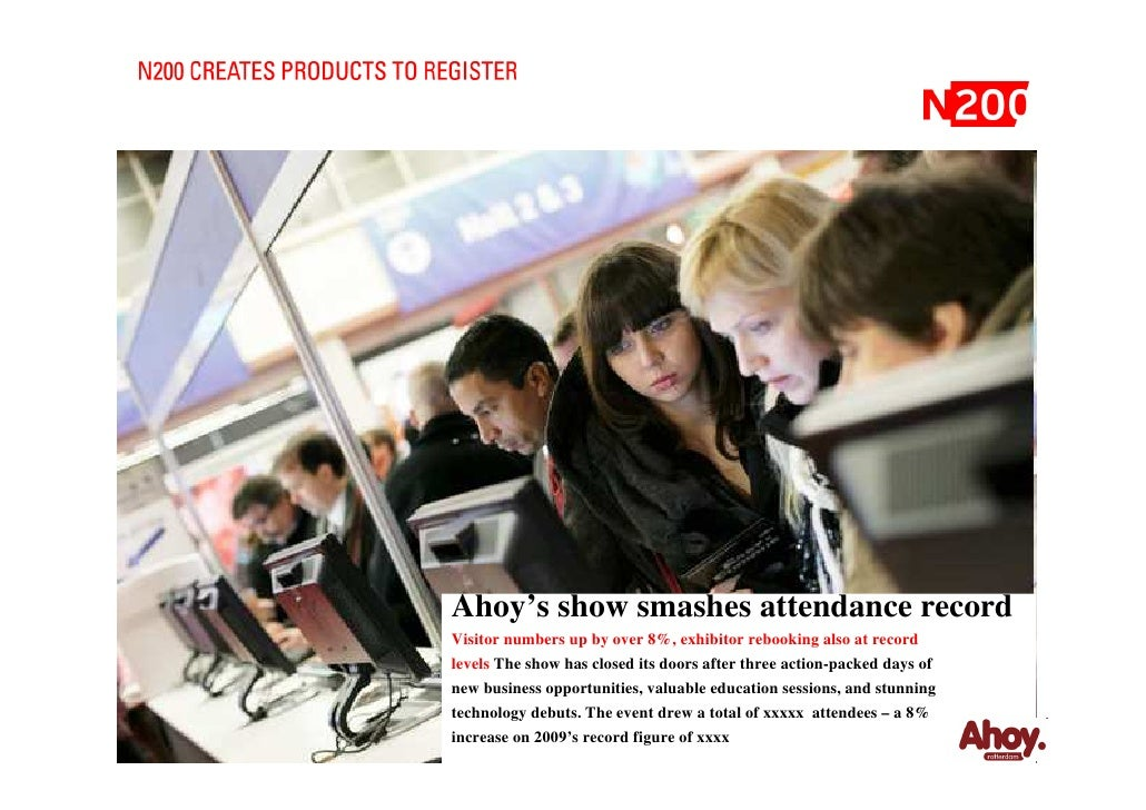 Ahoy's show smashes attendance record Visitor numbers up by over 8%, exhibitor rebooking also at record levels The show ha...