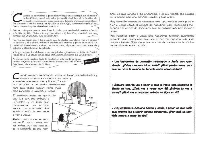 Reflexión para niños. Domingo de Ramos Slide 2