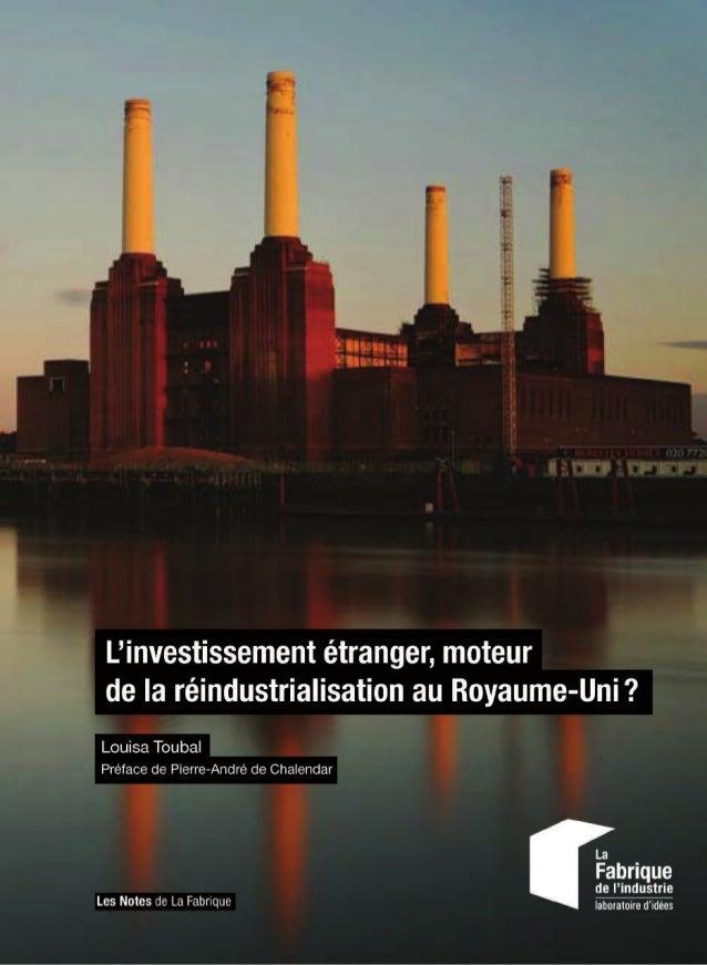 L'investissement étranger, moteur de la réindustrialisation au Royaume-Uni?