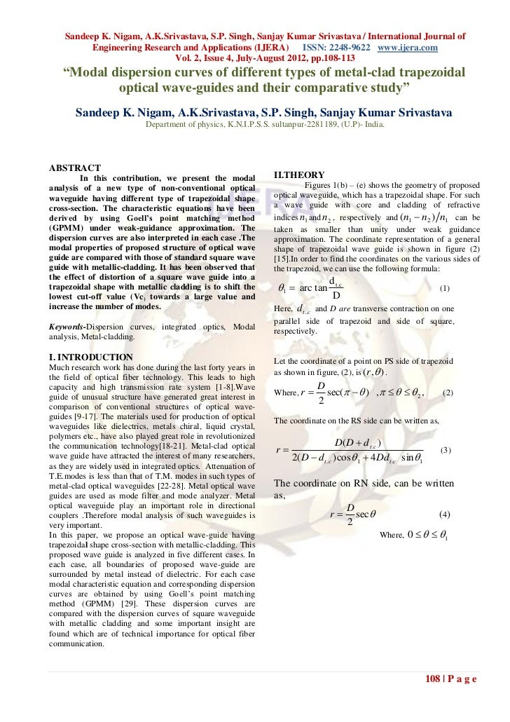 Sandeep K. Nigam, A.K.Srivastava, S.P. Singh, Sanjay Kumar Srivastava / International Journal of          Engineering Rese...