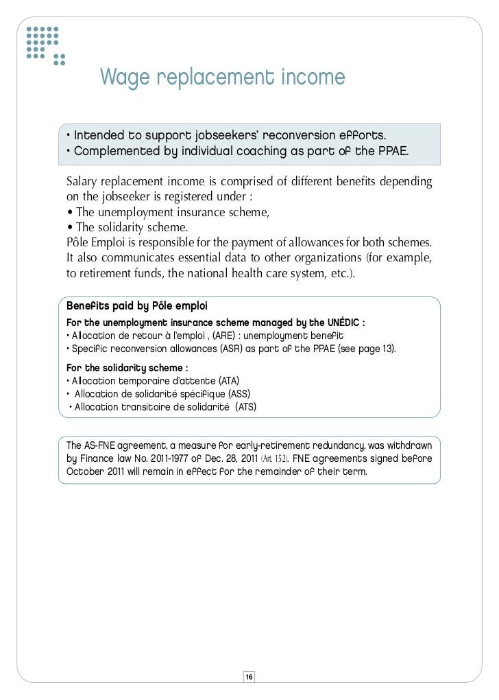 Compensation And Accompanying Of Jobseekers In France