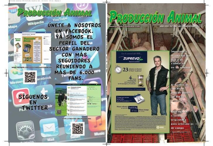 AÑO XXVI - N.º 268 - SEPTIEMBRE-OCTUBRE 2011           Impor tancia           de una optima           nutrición           ...