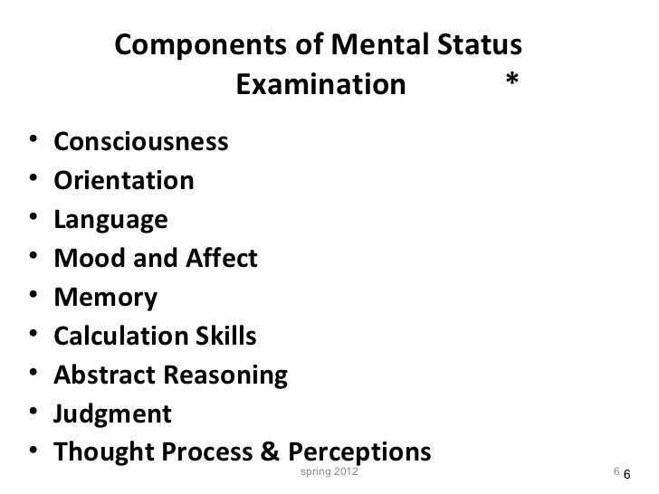 Mental Status Examination in Primary Care: A Review