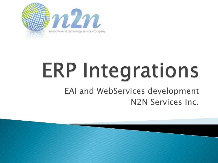 EAI and WebServices development               N2N Services Inc.